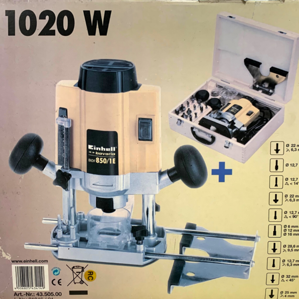 Einhell BOF 850/1 E-7 1020W set fresatrice verticale