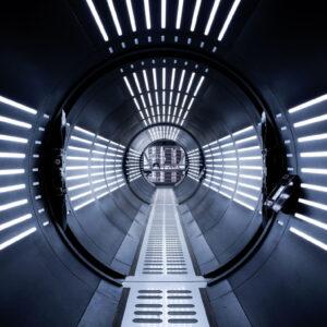 SW Tunnel Fotomurale 8 teli, misura standard 368x254 cm
